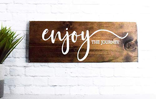 Enjoy The Journey Wood Sign Farmhouse Wooden Quote Wall Decor 0 0