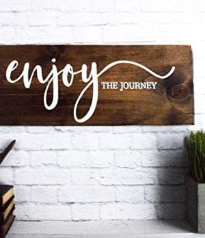 Enjoy The Journey Wood Sign Farmhouse Wooden Quote Wall Decor 0 2 300x348