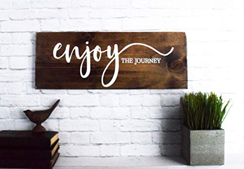 Enjoy The Journey Wood Sign Farmhouse Wooden Quote Wall Decor 0 2