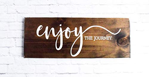 Enjoy The Journey Wood Sign Farmhouse Wooden Quote Wall Decor 0