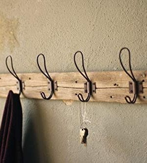 Entryway Rustic Style 5 Hook Wall Mount Wooden Coat Rack Brown Large 26 X 55 0 0 300x333