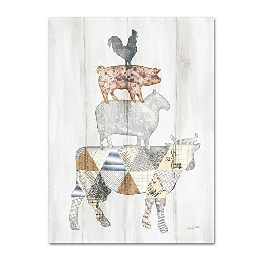 Farm Family I By Courtney Prahl 14x19 Inch Canvas Wall Art 0