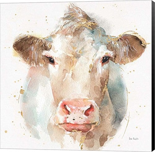 Farm Friends II By Lisa Audit Canvas Art Wall Picture Museum Wrapped With Black Sides 12 X 12 Inches 0