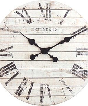 FirsTime 10066 Shiplap Wall Clock White 0 300x360