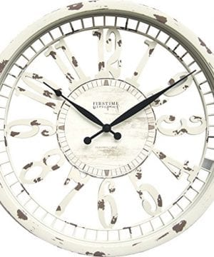 FirsTime 31043 Whitney Wall Clock Antique Cream 0 300x360