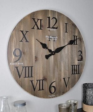 FirsTime 50075 Wall Clock Weathered Barn Wood 0 300x360