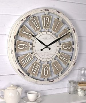 FirsTime 99679 Wall Clock Antique White 0 0 300x360