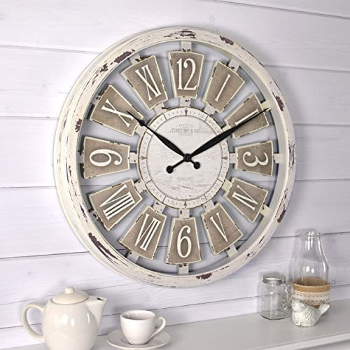 FirsTime 99679 Wall Clock Antique White 0 0