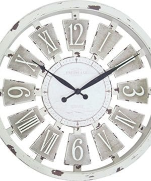 FirsTime 99679 Wall Clock Antique White 0 300x360