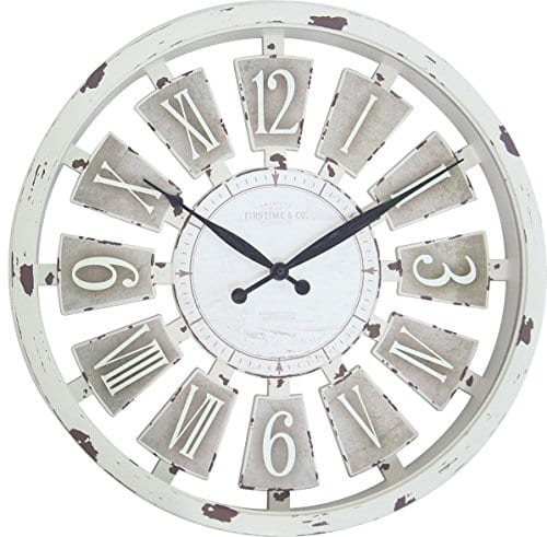 FirsTime 99679 Wall Clock Antique White 0