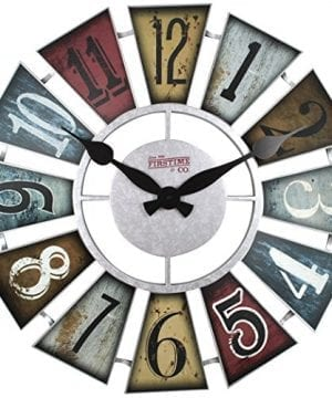 FirsTime 99681 Numeral Windmill Wall Clock Multicolor 0 300x360