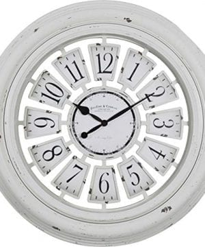 FirsTime Co 31066 Farmhouse Plaques Wall Clock 29 Antique White 0 300x360