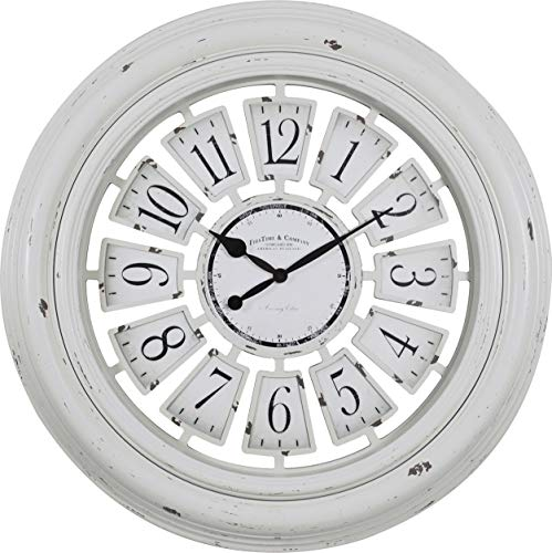 FirsTime Co 31066 Farmhouse Plaques Wall Clock 29 Antique White 0