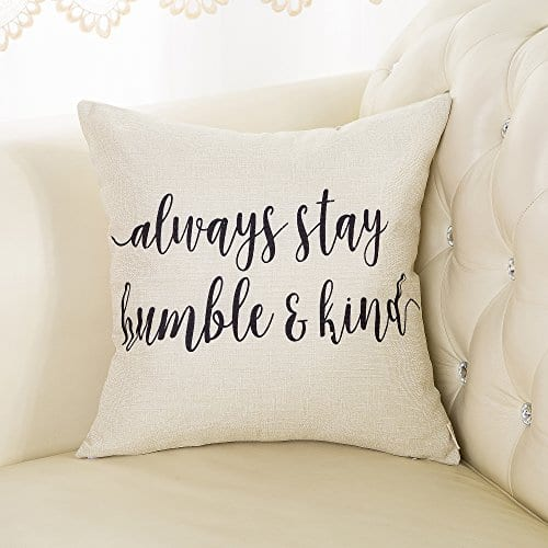 Fjfz Cotton Linen Home Decorative Throw Pillow Case Cushion Cover For Sofa Couch Love Compass Arrow White And Black 18 X 18 0 1