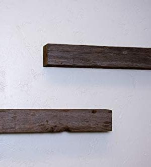 Floating Shelves Made From Reclaimed Wood Farmhouse Fixer Upper Style With Rustic Character And Countersunk Brackets 0 1 300x333