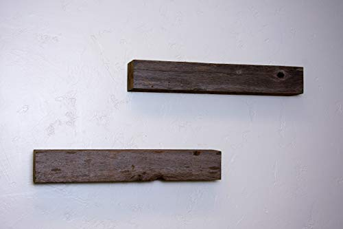 Floating Shelves Made From Reclaimed Wood Farmhouse Fixer Upper Style With Rustic Character And Countersunk Brackets 0 1
