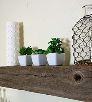 Floating Shelves Made From Reclaimed Wood Farmhouse Fixer Upper Style With Rustic Character And Countersunk Brackets 0 2 300x333