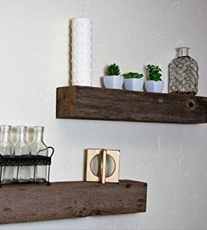 Floating Shelves Made From Reclaimed Wood Farmhouse Fixer Upper Style With Rustic Character And Countersunk Brackets 0 4 300x333