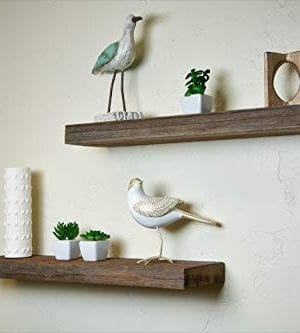 Floating Wall Shelves Made From Real Rustic Weathered Reclaimed Wood True Distressed Character Perfect For Farmhouse Fixer Upper Style 24x55x15 0 300x333