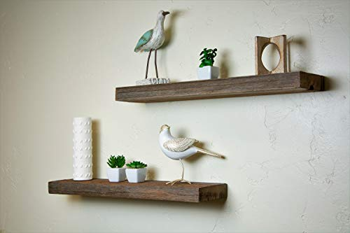 Floating Wall Shelves Made From Real Rustic Weathered Reclaimed Wood True Distressed Character Perfect For Farmhouse Fixer Upper Style