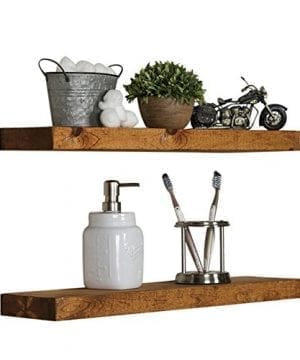 Floating Wall Shelves Set Of 2 Handmade Shelf Made Of Rustic Pine By Del Hutson Designs 2 X 24 X 55 Inch Walnut Color 0 0 300x360