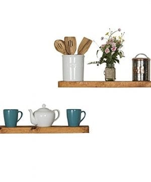 Floating Wall Shelves Set Of 2 Handmade Shelf Made Of Rustic Pine By Del Hutson Designs 2 X 24 X 55 Inch Walnut Color 0 2 300x360