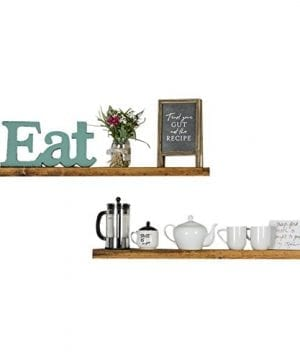 Floating Wall Shelves Set Of 2 Handmade Shelf Made Of Rustic Pine By Del Hutson Designs 2 X 36 X 55 Inch Walnut Color 0 300x360