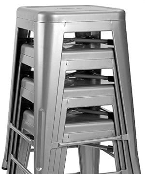Furmax Metal Stools High Backless Metal Indoor Outdoor Counter Height Stackable Bar Stools 0 0 300x360