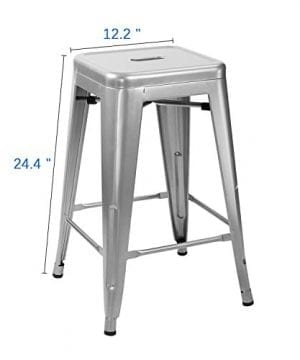 Furmax Metal Stools High Backless Metal Indoor Outdoor Counter Height Stackable Bar Stools 0 3 300x360