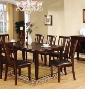 Furniture Of America Frederick 9 Piece Dining Table Set With 18 Inch Expandable Leaf Espresso Finish 0 0 300x313