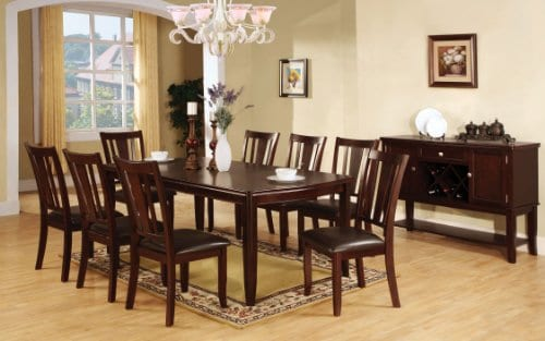 Furniture Of America Frederick 9 Piece Dining Table Set With 18 Inch Expandable Leaf Espresso Finish 0 0
