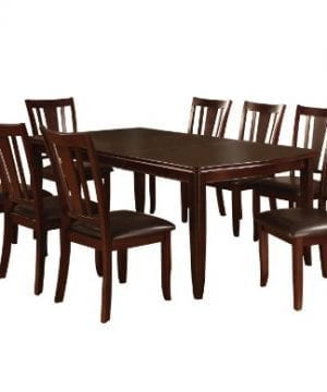 Furniture Of America Frederick 9 Piece Dining Table Set With 18 Inch Expandable Leaf Espresso Finish 0 300x360