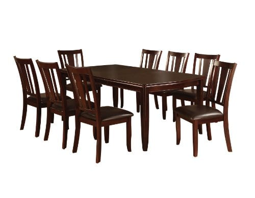 Remarkable Furniture Of America Frederick 9 Piece Dining Room Table And Chair Set Espresso Customarchery Wood Chair Design Ideas Customarcherynet