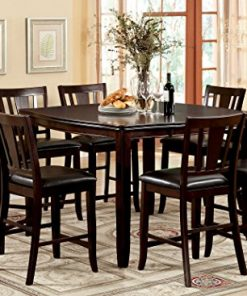 Sensational Furniture Of America Frederick 9 Piece Square Counter Height Table Set With 16 Inch Expandable Leaf Espresso Finish Customarchery Wood Chair Design Ideas Customarcherynet