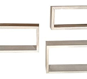 Giannas Home Set Of 3 Rustic Farmhouse Distressed Country Floating Shelves Rectangle 0 0 300x272