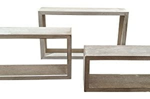 Giannas Home Set Of 3 Rustic Farmhouse Distressed Country Floating Shelves Rectangle 0 1 300x198
