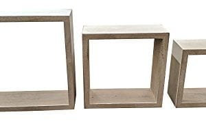 Giannas Home Set Of 3 Rustic Farmhouse Distressed Country Floating Shelves Square 0 0 300x177