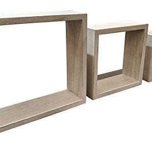 Giannas Home Set Of 3 Rustic Farmhouse Distressed Country Floating Shelves Square 0 300x287
