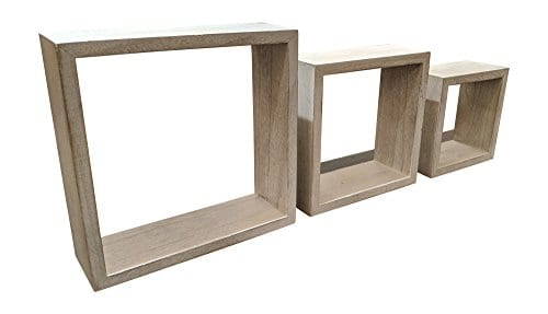 Giannas Home Set Of 3 Rustic Farmhouse Distressed Country Floating Shelves Square 0