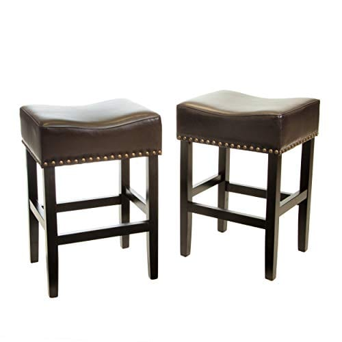 Great Deal Furniture Chantal Backless Brown Counter Stools