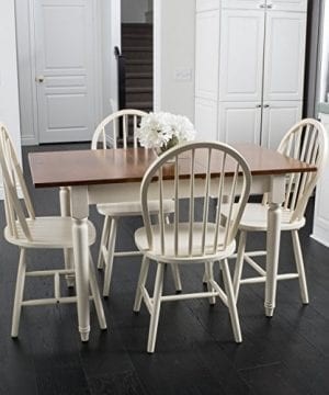 Great Deal Furniture Gates 5 Piece Spindle Wood Dining Set With Leaf Extension 0 300x360