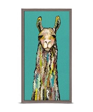 GreenBox Art Culture Llama By Eli Halpin 5 X 10 Mini Framed Canvas Rustic Natural 0 300x360