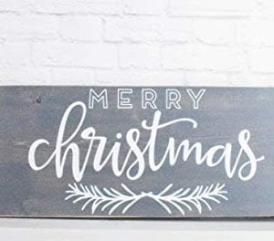 Grey Merry Christmas Wood Sign Farmhouse Holiday Wooden Wall Decor 0 0 300x264