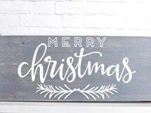 Grey Merry Christmas Wood Sign Farmhouse Holiday Wooden Wall Decor 0 1 300x225