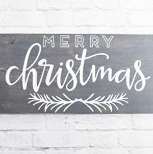 Grey Merry Christmas Wood Sign Farmhouse Holiday Wooden Wall Decor 0 300x301