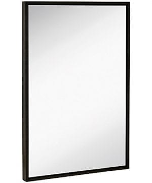 Hamilton Hills Clean Large Modern Frame Wall Mirror Contemporary Premium Silver Backed Floating Glass Panel Vanity Bedroom Or Bathroom Mirrored Rectangle Hangs Horizontal Or Vertical 0 300x360