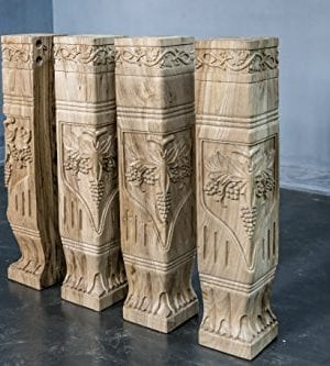 Hand Carved Semi Finished Table Leg 4 Pieces Set 0 0 300x333