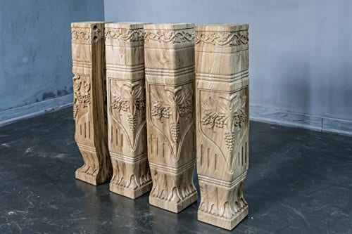Hand Carved Semi Finished Table Leg 4 Pieces Set 0 0