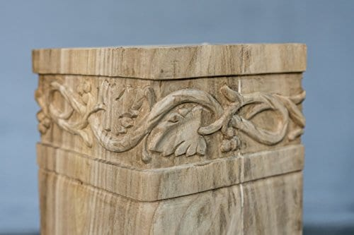 Hand Carved Semi Finished Table Leg 4 Pieces Set 0 2