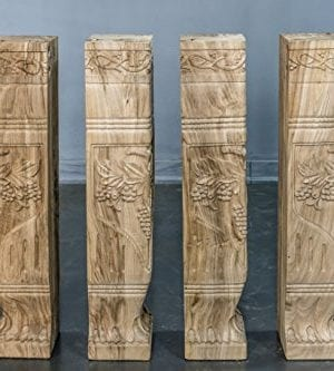 Hand Carved Semi Finished Table Leg 4 Pieces Set 0 300x333
